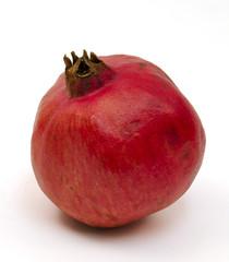 Pomegranate on white background
