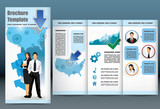 Trifold business brochure template poster