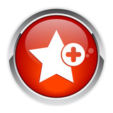 Bouton Web Favori icon red