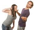 Suspicious Woman Threatens Boyfriend