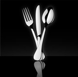 Cutlery_in black background