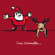 Santa und Rudolph