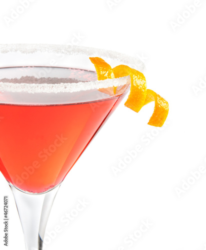 delicious cocktail served in tall glass isolated