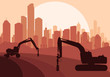 Hydraulic drilling machine , construction machinery