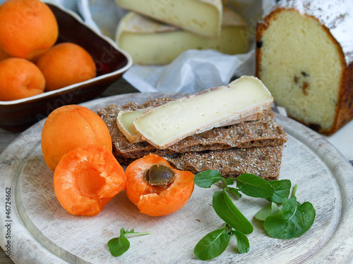 Breakfast With Reblochon Cheese And Apricots