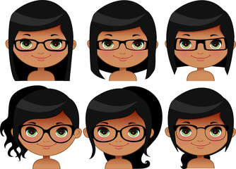Girl glasses (Indian)