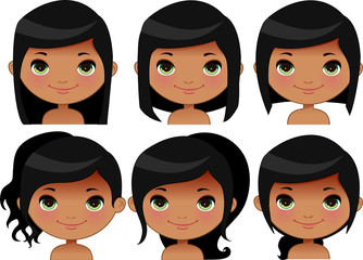 Indian Girl hairstyles