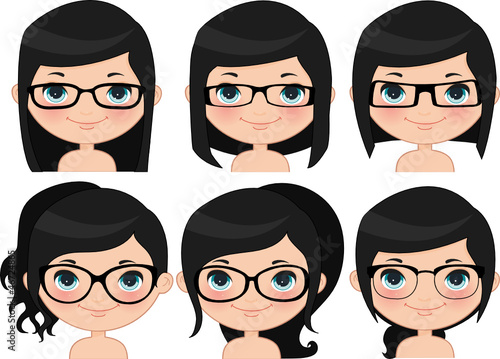 Girl glasses