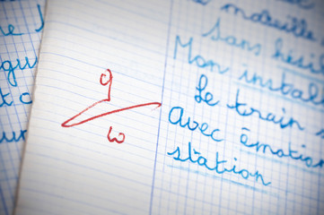 dictée orthographe, notation apprentissage écriture