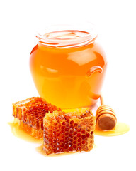 Fresh linden honey
