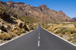 Road through National Park of Teide