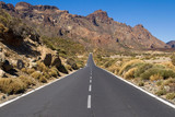 Road through National Park of Teide poster