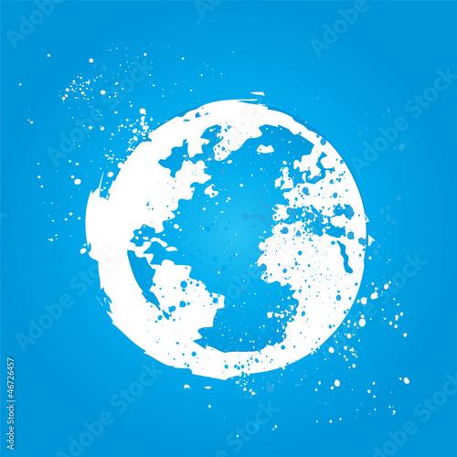 grunge water world concept