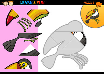 Cartoon toucan puzzle game