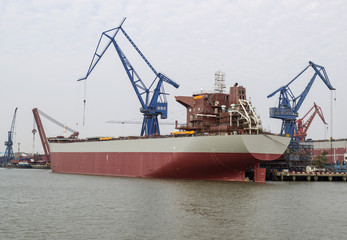 Large Chinese Freight Ship