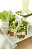Chicken, Blue Cheese and Vegetable Wraps