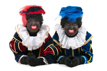 Dutch black petes laying at the floor