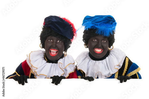 Dutch black petes with white board