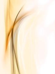 Elegant gold fractal waves