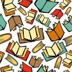 Back to School books pattern