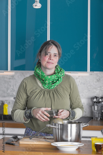 woman preparing food for the family