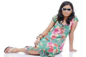 Portrait of Indian Girl in Studio