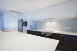 Modern new kitchen with stainless steel appliances