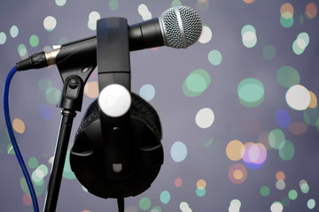 In music studio
