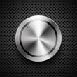 Technology music button (volume banner, knob) with metal texture