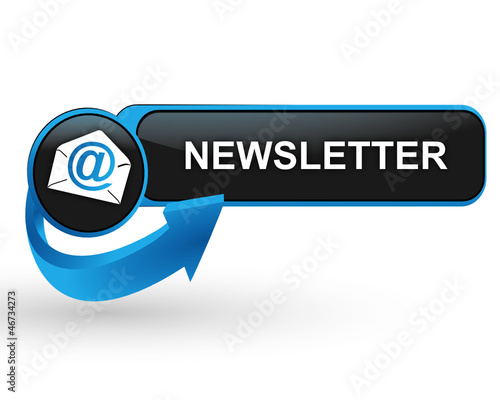 newsletter sur bouton web design bleu