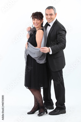 beautiful couple dressed to kill