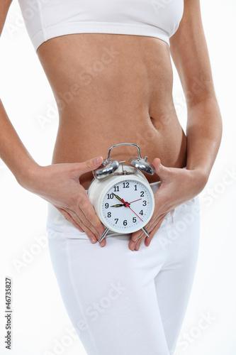 Woman showing alarm