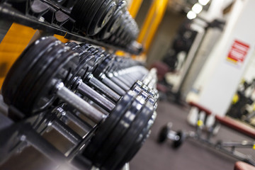 Weight Rack. Gym weights. Dumbbells