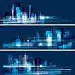 Modern cityscape concept background banners