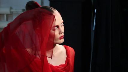 model at a photo shoot