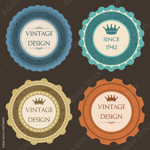Vintage stickers and labels