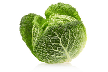 Cabbage with clipping path