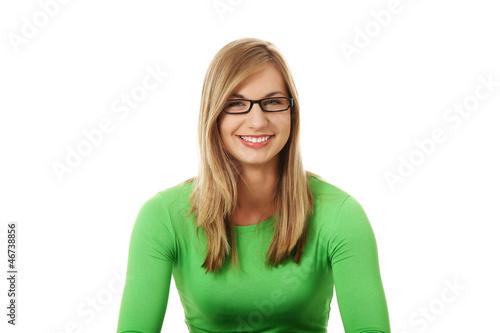 Smiling student girl