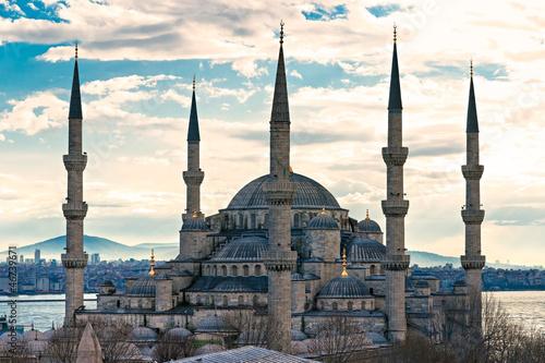 Fototapeten,istanbul,blau,mosque,türkei