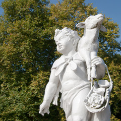 Shepherd sculpture in the Schloss Charlottenburg garden