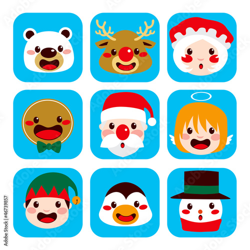 Christmas Character Faces