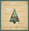 Christmas greeting card geometric tree