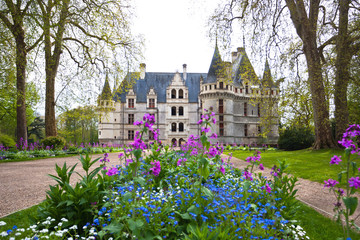 Azay-le-Rideau castle, Loire Valley, France.