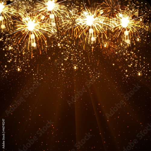 Happy New Year vector celebration background