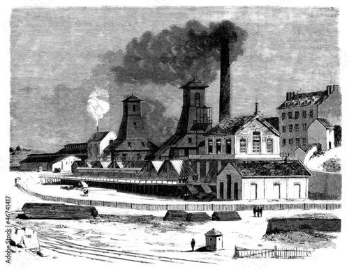 Coal Industry - Charbonnages - 19th century