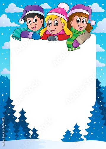 Winter theme frame 1