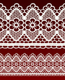 White openwork lace seamless border. poster
