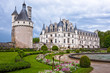 Castle Chenonceau, view from the garden. Loire Valley, France