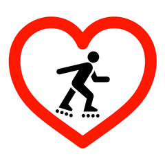 I love skating sign