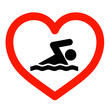 I love swimming sign